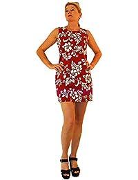 KY's | Robe hawaïenne originale | S - XXL | Vêtements de citrouille | Hawaii Imprimer | Pétales d'hibiscus | Rouge