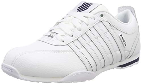 K-Swiss Herren Arvee 1.5 Sneaker, Weiß (White/Navy/Silver 106), 44 EU Weiß Navy Sneaker Schuhe