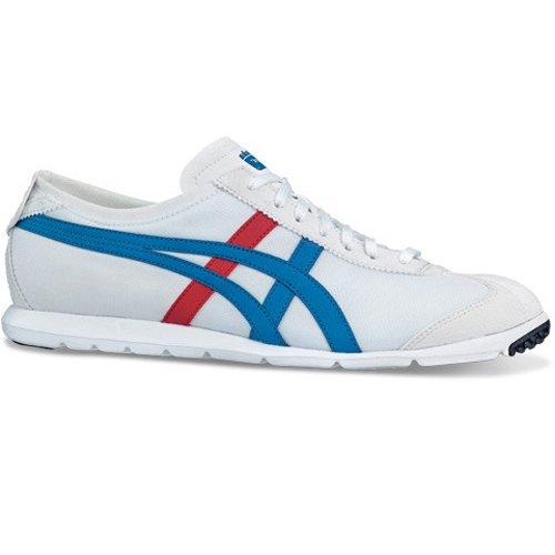 Onitsuka Tiger Rio Runner Tech Sneaker D328N-0142, 46.5, white/blue (Rio Runner)