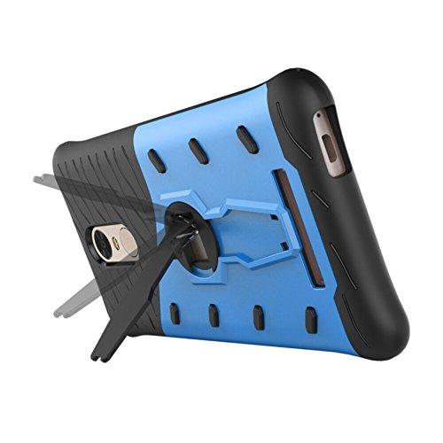 Für Xiaomi Hongmi Note 3 & Note 3 Pro Case Neue Rüstung Tough Style Hybrid Dual Layer Rüstung Defender Soft TPU / PC Rückseitige Abdeckung Fall Mit 360 ° Stand [Shockproof Case] ( Color : Gold ) Blue