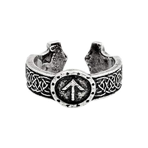 KISSFRIDAY Mythologie nordique créative Bague Celtique Lunawen Accessoires Bijoux Cadeau (Argent)