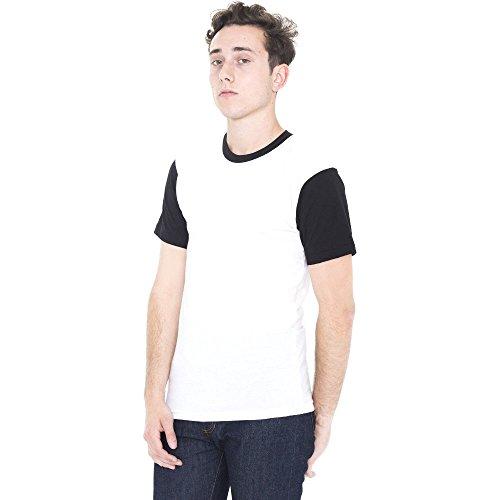American Apparel Mens Polycotton Short Sleeve Crew Neck T-Shirt sunshine