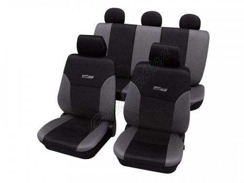 Preisvergleich Produktbild Faszination 11263 Autoschonbezug Komplett-Set, Grau Schwarz Anthrazit