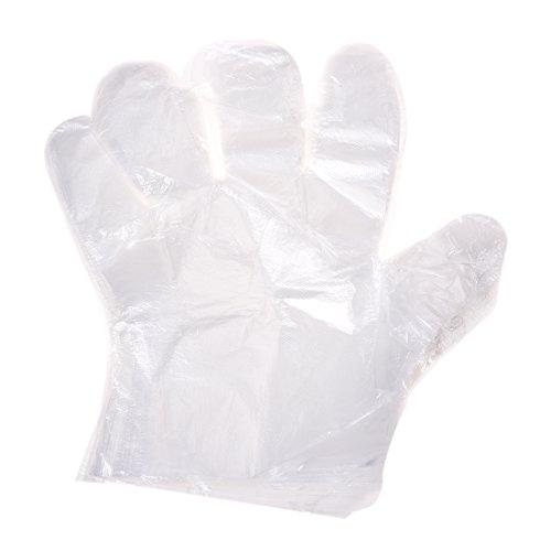 SODIAL(R) 50 Paar Lebensmittel-Service Handschutz Kunststoff Einweg Handschuhe klar -