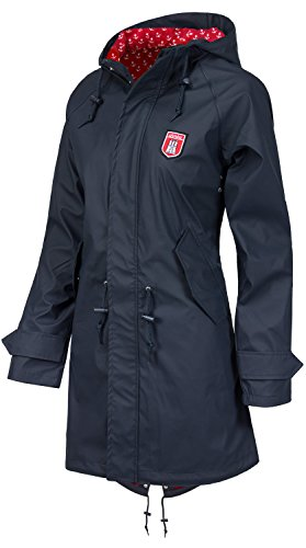 Derbe Travel Friese Anchor Damen Jacke Regenjacke /Navy/red, Size:s