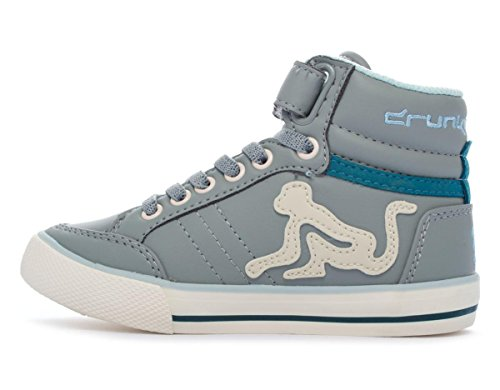 Drunknmunky Boston Classic 196 unisex kinder, glattleder, sneaker high Grey