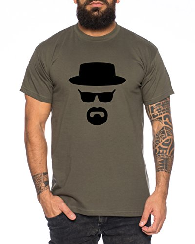 Heisenberg Herren T-Shirt Hermanos Bad Mr White Breaking, Farbe:Khaki;Größe:L (Breaking Bad)