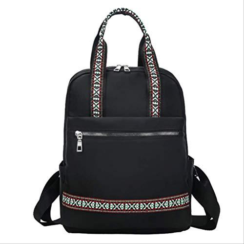25b27fdbe963 fhdc Zaino Semplice Splice Backpack Oxford Folk-Custom Fashion Casual Borsa  Da Viaggio Travel Hiking Color Block Zaino Nero