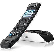 AEG Tongoo 15 - Teléfono inalámbrico Design DECT con contestador, manos libres y función de bloqueos de llamadas, color blanco