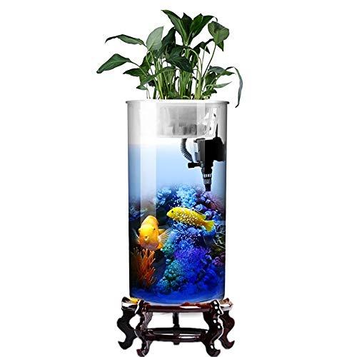 Beitai serbatoio di pesce cilindrico salotto di vetro verticale acquario piccolo e medio filtro da tavolo serbatoio per pesci rossi (colore : fish tank, dimensioni : height 95cm)