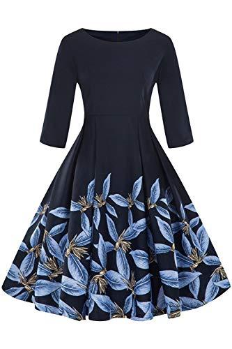 Axoe Damen 60er Jahre Petticoat Rockabilly Kleider mit 3/4 ()