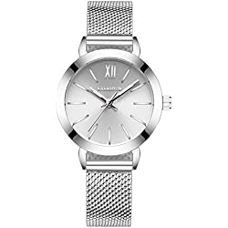 fashion steel Women Watch/Simple girls waterproof watch/ ladies quartz watch and leisure-B