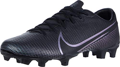 Nike Unisex-Adult Vapor 13 Academy FG/MG Football Shoe, Black/Black, 43 EU
