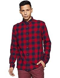Aeropostale Men's Checkered Regular Fit Casual Shirt