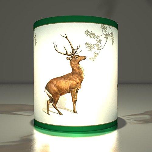 5 Weihnachtliche Teelichthalter mit edlem Hirsch fürs Fest, Advents Dekoration für den Tisch, stimmungsvolle Transparentleuchten