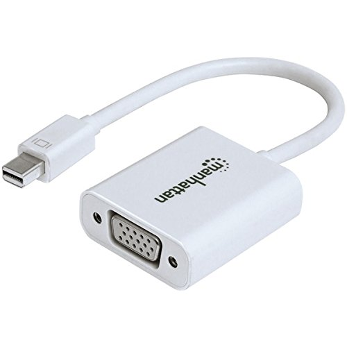 Manhattan 151382FM Mini-DisplayPort M VGA Weiß Adapter Cable–Adapter für Kabel (Mini-DisplayPort M, VGA FM, 0,17m, weiß)