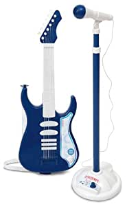 bontempi electric guitar with amplifier and microphone colours may vary toys games. Black Bedroom Furniture Sets. Home Design Ideas