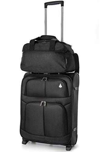 Aerolite 35x20x20cm Zweites Ryanair Handreisegepäck Reisetasche Sporttasche 14L (Schwarz) 2 x Schwarz