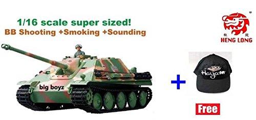 Heng Long Remote Control 2.4G RC Jagdpanther military tank 1:16– Shooting + Smoking + Engine Sounding 1/16 by Big Boyz © Review