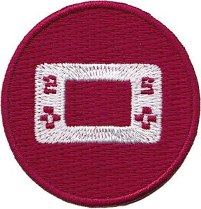 "Retro VIDEO GAMES Red Controller, Officially Licensed Artwork, Iron-On / Sew-On, 1.75"" x 1.75"" Embroidered PATCH toppa"