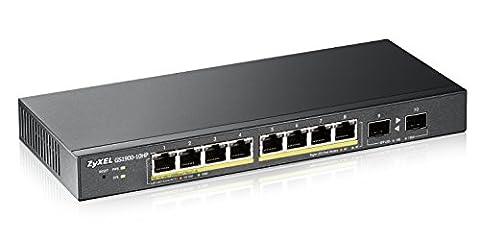 ZyXEL GS1900-10HP - 8 Port GbE / 2 SFP / 77 Watt POE / Smart Web Managed