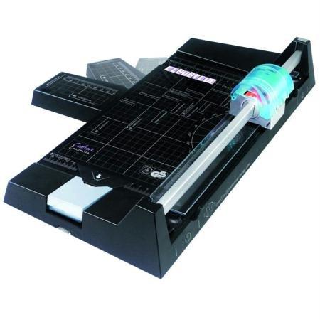 Rayher Hobby 8947400 Clevercut 5-in-1 Schneidemaschine, A3-A4-A5 Papierschneider mit Zusatzfunktionen
