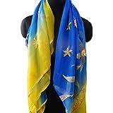 georgette de la cosecha tejido dupatta indio bordado velo amarillo material utilizado bufandas del abrigo del velo hijab decoración tradicional