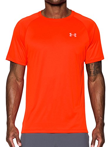 Under Armour Herren Kurzes Hülsen-T-Shirt, XL Magma Orange (Performance Crew T-shirt)