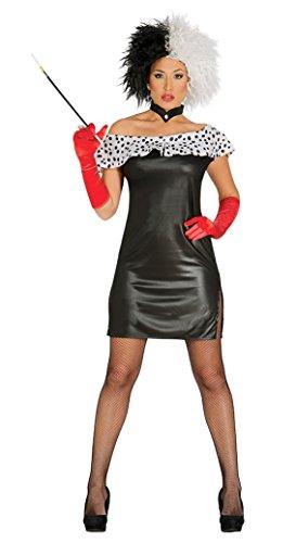 Cruella-Kostüm Sexy (Netzstrümpfe Sexy Kostüm Zubehör)