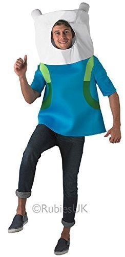e Finn The Human Cartoon Fest Kostüm Kleid Outfit (Adventure Time Finn The Human Kostüm)
