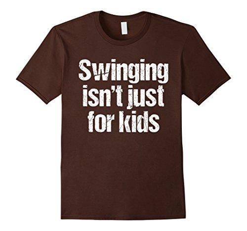 Adult Swingers Humor T-Shirt Herren, Größe M Braun