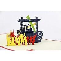 BC Worldwide Ltd Pop-up pop-up 3D a mano musica dal vivo band concerto compleanno natale capodanno festa anniversario anniversario laurea San Valentino carta per lui, lei, amico, famiglia