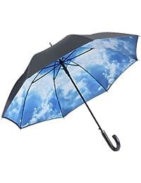 """VON LILIENFELD Paraguas automático con motivo """"Cielo de Hamburgo"""", con doble revestimiento"""