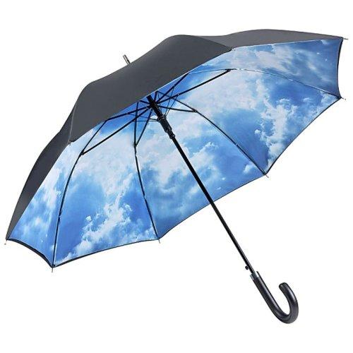 VON LILIENFELD Regenschirm Automatik Damen Herren Double-Layer Motiv Wolken Hamburger Himmel