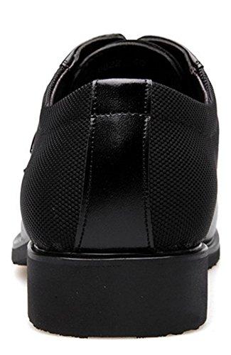 Nspx Oxfords Vêtements De Mariage D'affaires Couvert De Pied Hommes Casual Chaussures En Cuir Chaussures D'affaires, 44 Noir-41