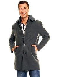 Fleece kurz - Mantel Collin mit Hochkragen in M L XL XXL 48 50 52 54 Grau von Ganeder