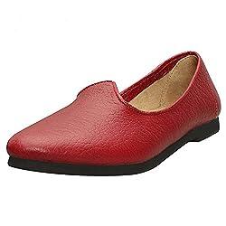 Bareskin red color genuine leather jalsa jutti for men size-8