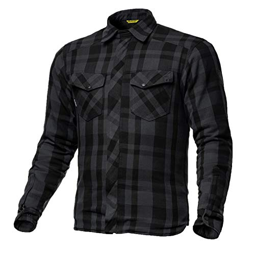 Herren Renegade Motorrad (SHIMA Renegade, Lumberjack Jacken-Hemd herren Motorrad Hemd Grau, (S-XXL, Grau), Größe XXL)