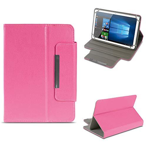 NAUC Odys Cosmo Win X9 Tablet Schutzhülle Tasche aus Kunst-Leder Hülle Standfunktion Cover Universal Case Magnetverschluss, Farben:Pink