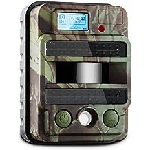DURAMAXX Grizzly Max PIR cámara de vigilancia y observación (40 LEDs, 8 MP, vídeo HD, USB, SD, PIR 100°, sensor movimiento, flash infrarrojo, camuflaje, intemperie) - negro