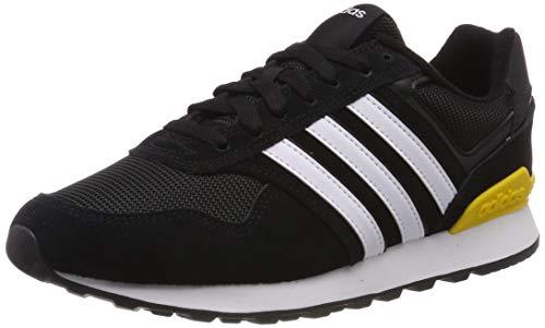 adidas Herren 10K Laufschuhe, Schwarz (Core Black/Ftwr White/Bold Gold), 42 2/3 EU - Original Männer Adidas Schuhe