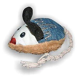 LunaChild Handmade Maus Spielzeug WUNSCHNAME Katzenspielzeug Baldrian Katzenminze Name Rassel blau Katze Unikat personalisiert persönliches Geschenk