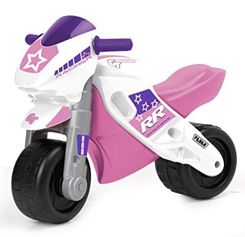 FEBER MotoFEBER Racing - Trotteur avec casque, pour filles de 18 mois à 3 ans, Violet (Famosa 800008174)