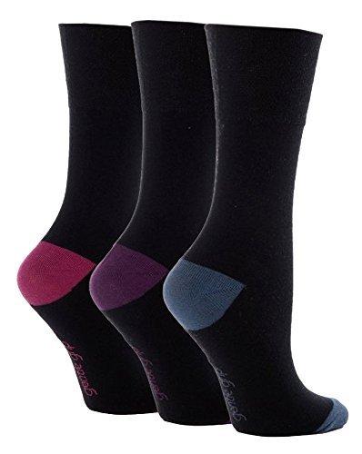 6-Pairs-Ladies-Sock-Shop-Gentle-Grip-Contrast-Heel-and-Toe-Socks-with-honeycomb-top-Size-4-8