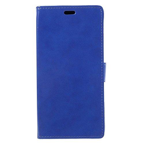 Tasche Hüllen Schutzhülle - case cover Crazy Horse Textur Card Inhaber stehen Zelle - Blau für Samsung Galaxy Note 8 (Zelle Stehen)