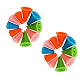 Vkospy 20pcs/Set Rubber Cone Shape Knit Knitting Needles cap Tips Point Protectors Craft Sewing Needlework Accessories Random Color