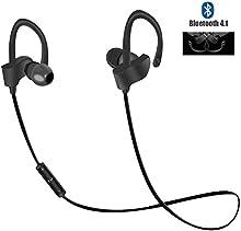 Auriculares Bluetooth, Magicmoon V4.1 En el oido Inalámbrico Deporte Gancho para la oreja Auriculares Prueba de sudor Auriculares con Micrófono, Sonido de primera calidad con graves, Cancelación de ruido - 7 Horas Tiempo de juego