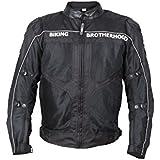 Biking Brotherhood Ladakh All Season Textile Riding Jacket (Black)