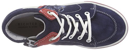 Richter Kinderschuhe Jungen Ola High-Top Blau (atlantic/fire/panna  7201)