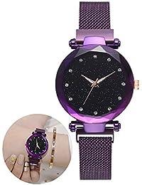 Relojes para mujer Pulsera Diamantes de imitación Reloj de pulsera Reloj de cuarzo Reloj para dama Starry Sky…